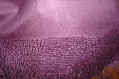 Purple wool shawl